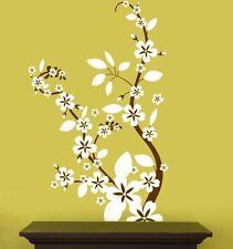 Vinyl Wall Decal Sticker Flower Floral Asian Blossom