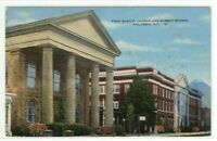 Circa 1930 First Baptist Church and Sunday School Columbia SC Postcard