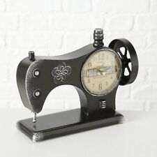 Tischuhr Rustikal Vintage Boltze Nähmaschine 29cm Eisen Standuhr Dekouhr