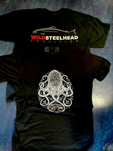 2-Men's L Large Puget Sound Keepers & Wild Steelhead Coalition T-Shirts