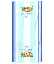 Bath House & Spa Beach Towel Printed Design Based on Stardew Valley