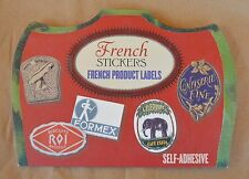 New 31 Die Cut Self-Adhesive Stickers French Product Labels Laughing Elephant