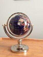 Lapis Gemstone World Globe Semi Precious Stones And Minerals