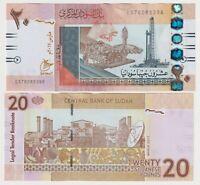 SUDAN 20 POUNDS (2017) - P-74 PREFIX ES  aUNC Banknote