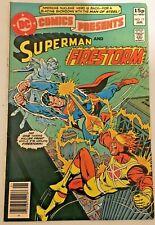 DC COMICS PRESENTS. SUPERMAN AND FIRESTORM  NO.17. UK VARIANT. 1980
