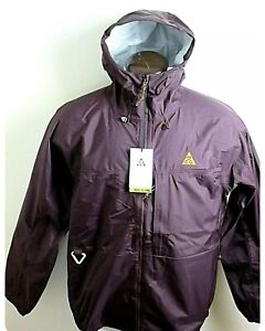 Nike ACG Tuff Nuggets Men's Rain Shell Full Zipper Jacket Deep Burgundy NWT Sz L