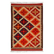 Hand Woven Red Wool Rug Turkish Kilim Dhurrie Persian Oriental Area Rug 3'X5' ft