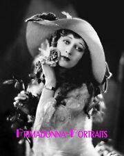 DOLORES COSTELLO 8X10 Lab Photo 1920s Delicate Roses & Lace, Silent Era Portrait