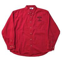 VTG 90s Indiana University Button Up Shirt Men's XL Hoosiers College Logo Red OG