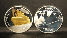 Super TITANIC Gold & Silver Plated 1912 commemorative with Atlantic Route Map