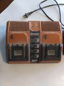 Rigid Rapid Max Twin Battery Charger 12v 14.4v 18v 140276002 + (1) 18V Battery