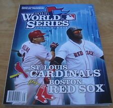 NEW 2013 MLB Baseball World Series Program Boston Red Sox St. Louis Cardinals