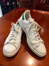 best website af0da 83dbf Adidas Stan Smith White And Green Tennis Shoes Size 13