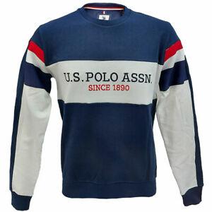 Felpa uomo girocollo US POLO ASSN Crew neck fleece con logo centrale