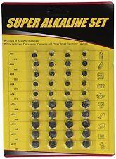40-Pcs High Power Assorted Alkaline button Cell Battery Kit