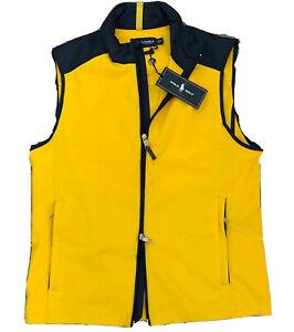 Polo Ralph Lauren yellow Performance softshell pony Golf Vest size Small rt $125