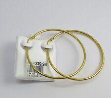 New 14k Karat Gold Filled 2XL Thin Plain Hoop Earrings