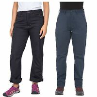 Trespass Footfall Womens Black Navy Walking Hiking Pants Roll Up UV Trousers