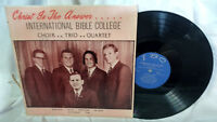 International Bible College Choir..Trio.. LP Private Gospel San Antonio, Texas