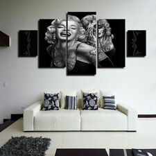 Great Modern Home Canvas Wall Decor Art Painting Picture Print Marilyn Monroe 5  Pcs US