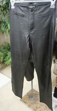 PRE-OWNED TARK1 Leather Look Pants Stretch Vegan Brown Jean Style Size 6