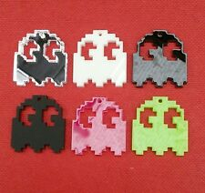 5x Pacman ghost acrylic charms/pendants/jewellery making/craft's