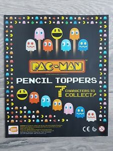 PAC-MAN Pencil or cake toppers 7 characters retro party toys, collectable gifts