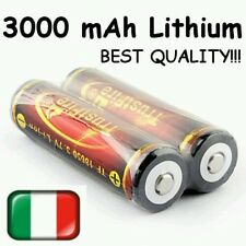 2x 3000 MAH 18650 BATTERIA LITIO TRUSTFIRE RICARICABILE CON PCB LITHIUM BATTERY
