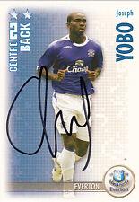 Everton F.C Joseph Yobo Hand Signed 06/07 Premiership Shoot Out Card.