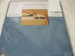 "Bardwil Linens Reflections Microfiber Tablecloth Stone Blue  52""x70"" NIP"