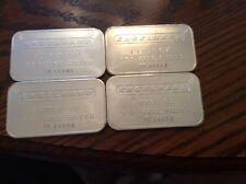 4  ENGELHARD 1 OUNCE SILVER 999 BARS