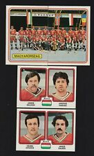 1979 Panini Team Hungary World Championships Team Set Of 9 Hockey Cards