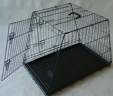 "42"" SLOPING SIDE COLLAPSIBLE PET DOG WIRE CRATE CAGE PUPPY PORTABLE HOUSE"