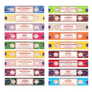 Satya Incense Genuine Nag Champa Scent Insence Sticks Joss 15g Pack Mix & Match
