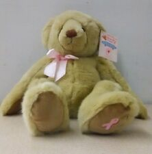 "Susan G. Komen Deluxe Teddy Bear Dakin Breast Cancer Pink Ribbon 15"" NWT Pin"