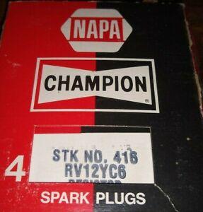 NOS  Champion Copper Plus Spark Plugs RV12YC6    Pack of 4