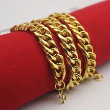 Men's Jewelry 24k Gold Filled Cuban Necklace 500 mm Cool Long Chain