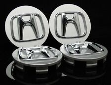 "NEW Honda set 4 wheel rim center cap chrome logo 2.75"" 69mm Civic Accord Pilot"