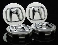 "Set 4 Honda wheel rim center cap chrome logo 2.75"" 69mm Civic Accord Pilot"