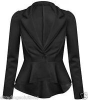 Womens Ladies Winter Jacket Blazer Coat Top UK 4 6 8 10 12 14 16 18 20 22 *ScbJk
