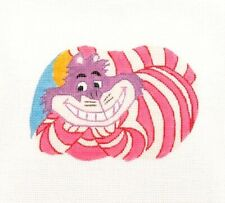 New ListingSilver Needle Alice in Wonderland Cheshire Cat Handpainted Needlepoint Canvas Sn