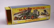 Repro Box Matchbox King Size K- 2 KW-Dart Dump Truck