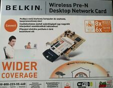 Belkin Wireless Pre-N Desktop Network Card PCI Adapter