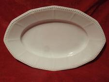 Ovale Platte 33 x 21,5 cm Hutschenreuther Selb Walküre Perlrand weiss