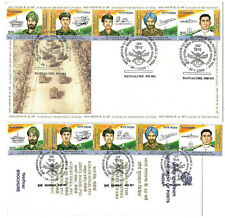 RARE 2000 50 YEARS REPUBLIC OF INDIA 5 STAMPS FDC + 5V STAMPS ON FOLDER SIKH#850