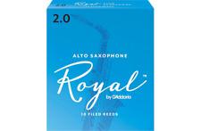 Rico Royal 2 Strength Alto Saxophone Reeds - Box of 10 - RJB1020 Sax