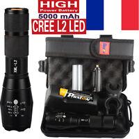 80000LM Police CREE XML XM-L L2 LED Militaires lampe de poche la tactique torche