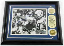 Johnny Unitas Signed Photo 2 Coins Highland Mint Framed Auto DF025651