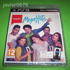 SINGSTAR MEGA HITS NUEVO Y PRECINTADO PAL ESPAÑA PLAYSTATION 3 PS3