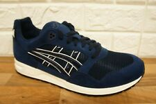 Asics GEL-SAGA Mens Size 10 UK Midnight Blue Suede Leather Trainers Brand New
